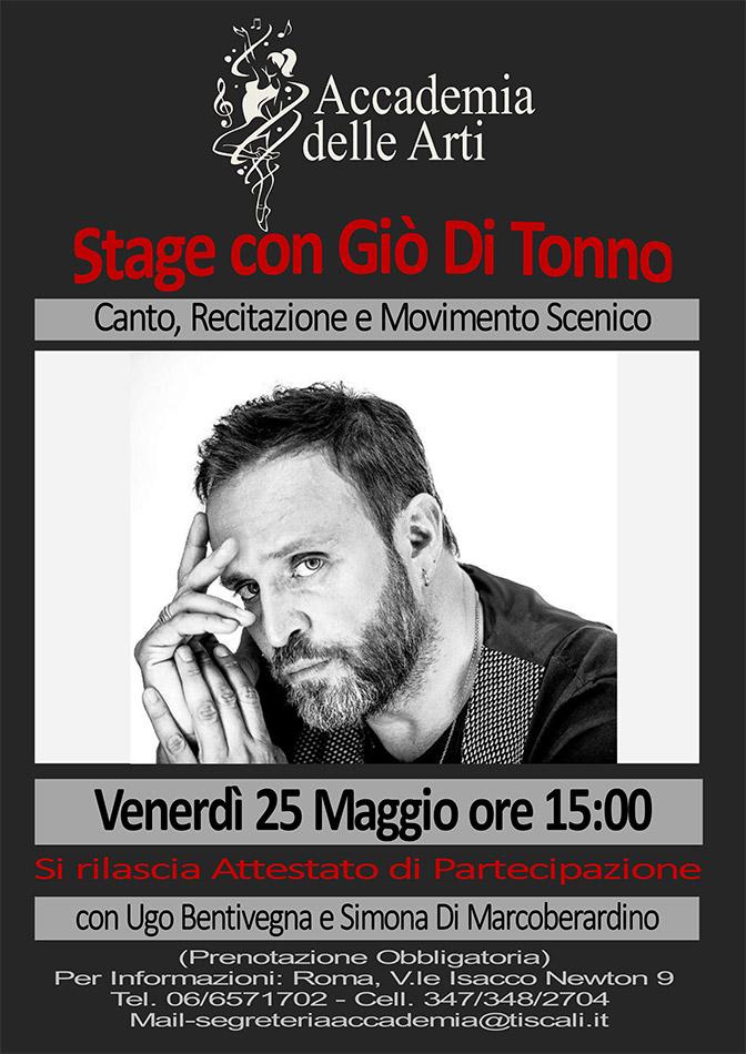 Stage con Giò Di Tonno